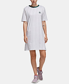 adidas Originals Stripe Out Cotton T-Shirt Dress