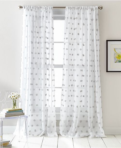Dkny Ella Pompom Dot 50 X 84 Sheer Curtain Set Reviews