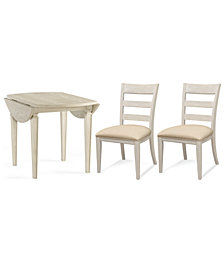 Cutler Dining Furniture, 3-Pc. Set (Table & 2 Wood Back Side Chairs)