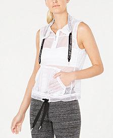 Calvin Klein Performance Mesh Cowlneck Zip Vest