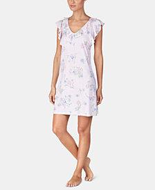 Lauren Ralph Lauren Ruffled Printed Knit Nightgown