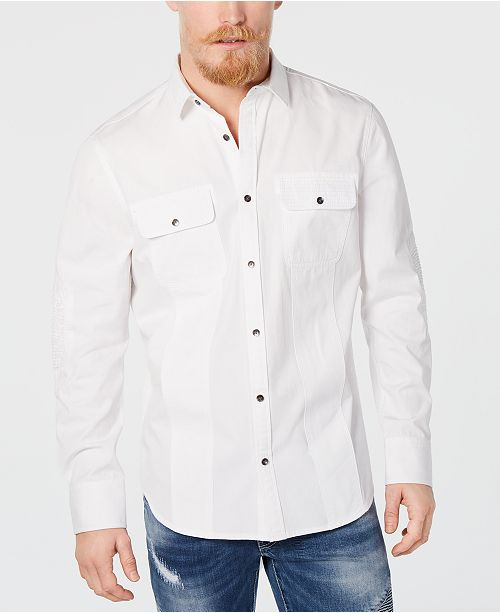 INC International Concepts I.N.C. Men's Moto Shirt, Created for Macy's