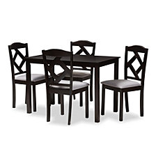 Ruth 5 Piece Dining Set, Quick Ship