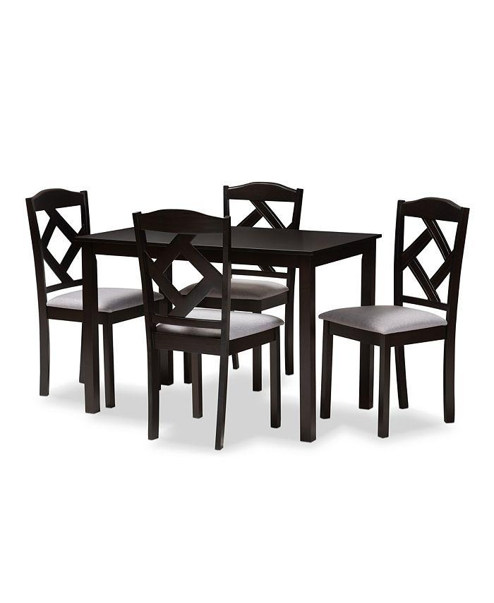 Furniture - Ruth 5 Piece Dining Set, Quick Ship