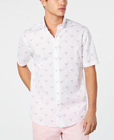 Club Room Men's Cattle Skull Graphic Shirt, Created for Macy's