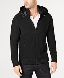 I.N.C. Men's Full-Zip Jacket with Puffer Back, Created for Macy's