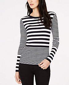 MICHAEL Michael Kors Ribbed Striped Sweater