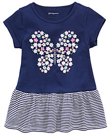 First Impressions Baby Girls Floral-Print Butterfly Tunic, Created for Macy's