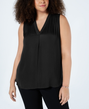 Vince Camuto Tops PLUS SIZE V-NECK SLEEVELESS BLOUSE