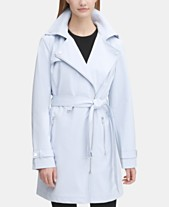 c6c31155172d7 DKNY Asymmetrical Trench Coat