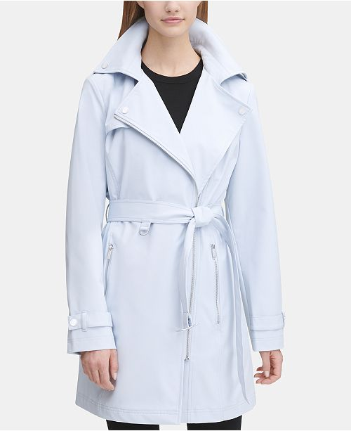 DKNY Asymmetrical Trench Coat, Created for Macy's
