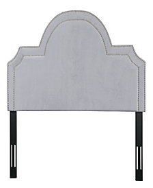 Laylah Queen Headboard in Grey Velvet