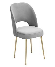Swell Blush Velvet Chair