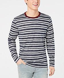 American Rag Men's Long Sleeved Striped Ringer Tee, Created for Macy's