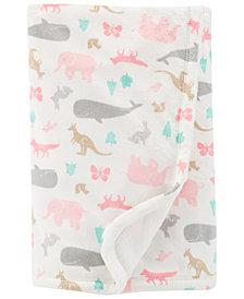 Carter's Baby Girls Animal-Print Fleece Blanket