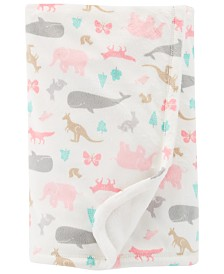Carter's Baby Girls Animal-Print Fleece Blanket