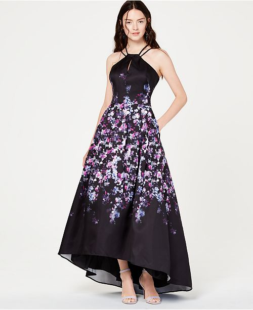 59aba436d Morgan & Company Juniors' Printed High-Low Gown & Reviews - Dresses ...
