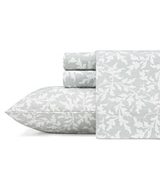 Crestwood Lt-Pastel Grey King Flannel Sheet Set