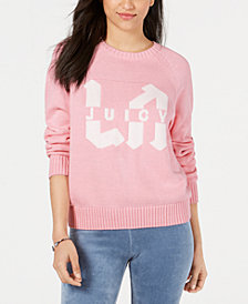 Juicy Couture Cotton LA Logo Crewneck Sweater