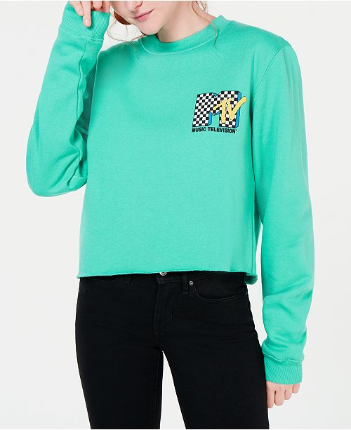 6910eb32026 Love Tribe Juniors' MTV Cropped Graphic Sweatshirt & Reviews ...