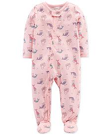 Carter's Baby Girls Purrmaid-Print Cotton Pajamas