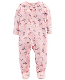 Carter's Baby Girls Purrmaid-Print Cotton Pajamas