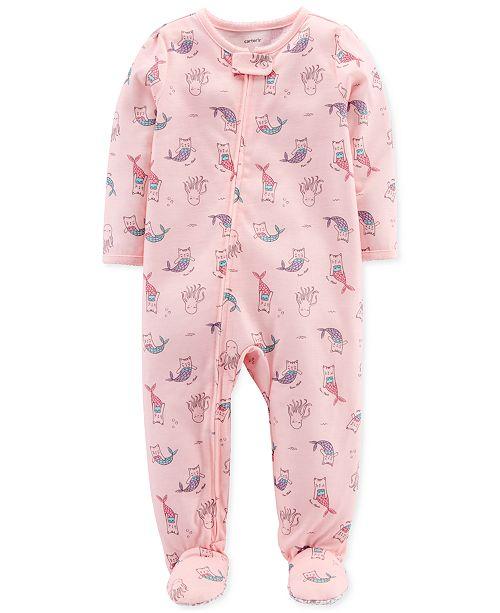 3f6e2ad0cf94 Carter's Baby Girls Purrmaid-Print Cotton Pajamas & Reviews ...