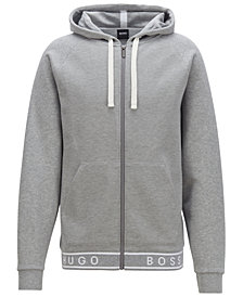 BOSS Men's Full-Zip Cotton Hoodie
