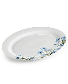 CLOSEOUT! Floral Oval Platter, Created for Macy's