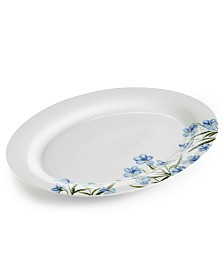 Martha Stewart Collection Floral Oval Platter, Created for Macy's