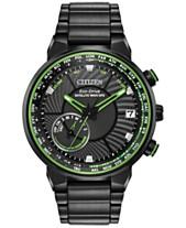 1292c6562e5 Citizen Eco-Drive Men s Satellite Wave GPS Black-Tone Stainless Steel  Bracelet Watch 44mm