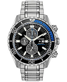 Citizen Eco-Drive Men's Promaster Diver Stainless Steel Bracelet Watch 46mm
