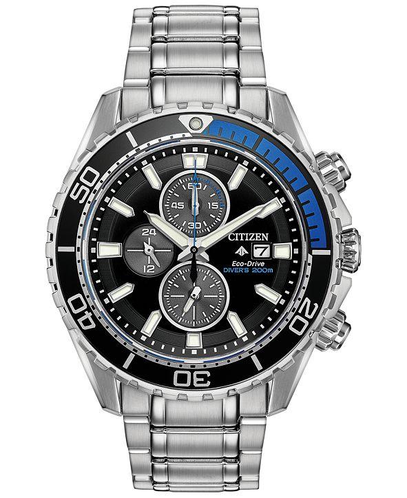 Citizen Eco-Drive Men's Promaster Diver Stainless Steel Bracelet Watch 46mm