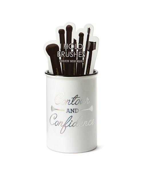 "Tri-Coastal Design Tri-Coastal ""Contour and Confidence"" Ceramic Brush Holder"