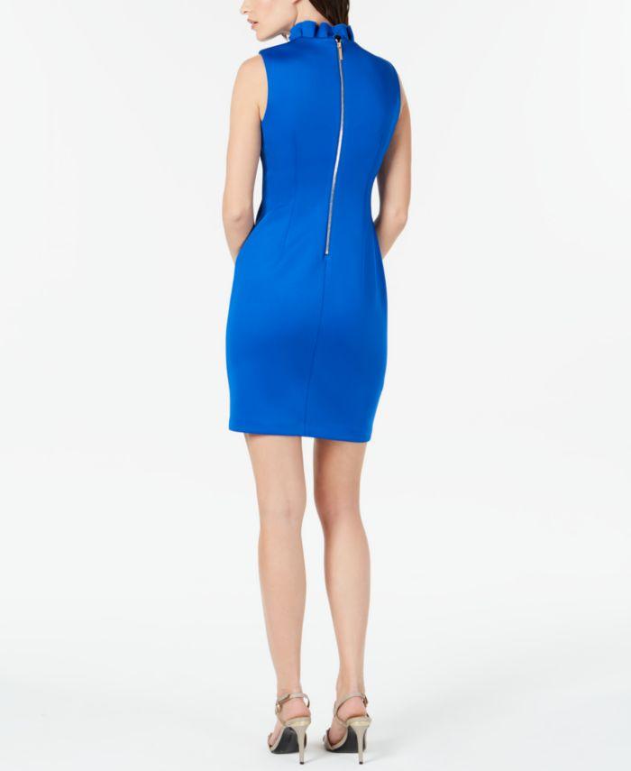 Calvin Klein Ruffled-Collar Scuba Sheath Dress, Regular & Petite Sizes & Reviews - Dresses - Women - Macy's