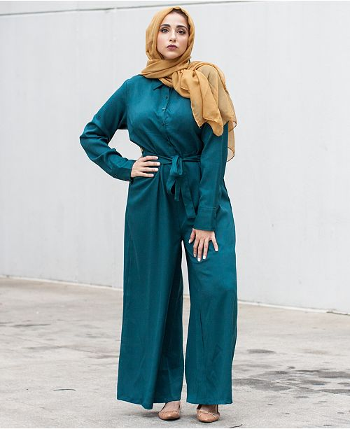 aa9faad6bac8 Verona Collection Wide-Leg Modest Jumpsuit   Reviews - Pants ...