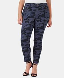 Plus Size Camo-Print Cargo Pants