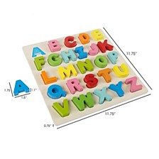 Wooden Alphabet Puzzle Board By Hey Play