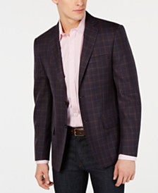 Calvin Klein Men's Slim-Fit Plaid Sport Coat