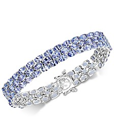 Tanzanite Three Row Bracelet (24 ct. t.w.) in Sterling Silver