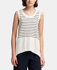 DKNY Striped Sleeveless Sweater, Created for Macy's