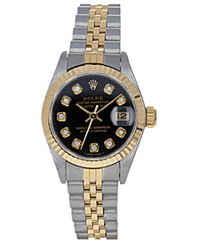 Pre-Owned Rolex Women's Datejust Jubilee 18K Yellow Gold & Stainless Steel Bracelet Watch 26mm