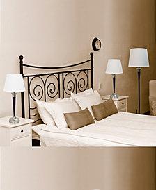Elegant Designs Malbec Black and Brushed Nickel 3 Pack Lamp Set (2 Table Lamps, 1 Floor Lamp)