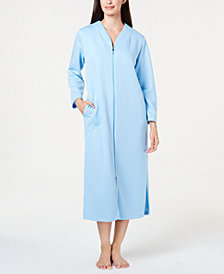 Miss Elaine Quilted Long Zip Robe