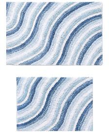 Wave Cotton 2-Pc. Seaglass Bath Rug Set