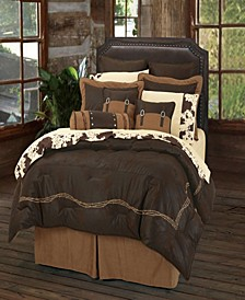 EmbroideRed Barbwire Comforter, Full Chocolate