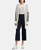 4fd17009fe DKNY Long-Sleeve Striped Cardigan