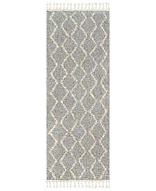 "Surya Berber Shag BBE-2304 Taupe 2'7"" x 7'3"" Runner Area Rug"