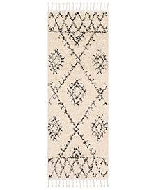 "Surya Berber Shag BBE-2305 Charcoal 2'7"" x 7'3"" Runner Area Rug"
