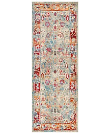 "Bohemian BOM-2306 Bright Red 2'11"" x 7'10"" Runner Area Rug"